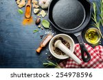 ingredients for cooking and... | Shutterstock . vector #254978596