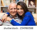 elderly eighty plus year old... | Shutterstock . vector #254980588