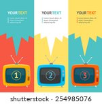 Vector Illustration Banner Set...