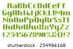 3d green alphabets big and... | Shutterstock . vector #254986168