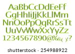 3d rendering of green alphabet. | Shutterstock . vector #254988922