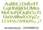 3d rendering of green alphabet. | Shutterstock . vector #254988922