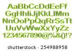 3d rendering of green alphabet. | Shutterstock . vector #254988958