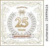 anniversary card 25 years | Shutterstock .eps vector #254994616