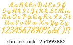 3d yellow alphabet with numbers ... | Shutterstock . vector #254998882