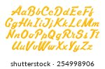3d yellow alphabet with numbers ... | Shutterstock . vector #254998906