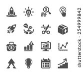 business start up icon set ... | Shutterstock .eps vector #254999842