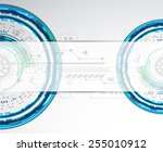 abstract technological... | Shutterstock .eps vector #255010912