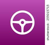 wheel icon vector steering car... | Shutterstock .eps vector #255015715