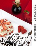 strawberry risotto with... | Shutterstock . vector #255027382