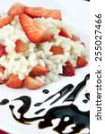 strawberry risotto with... | Shutterstock . vector #255027466