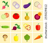 vegetable icons | Shutterstock .eps vector #255029812