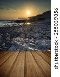 landscape image of rocky beach...   Shutterstock . vector #255039856
