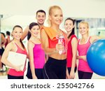 sport  exercise and healthcare  ... | Shutterstock . vector #255042766