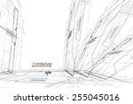 architecture background | Shutterstock .eps vector #255045016