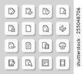 document web icons set | Shutterstock .eps vector #255048706