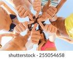 friendship  summer vacation ... | Shutterstock . vector #255054658
