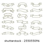 ribbons set. vector... | Shutterstock .eps vector #255055096