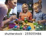 painting easter eggs is our... | Shutterstock . vector #255055486
