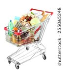 Shopping Cart Full With Various ...
