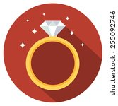 diamond  engagement ring icon   Shutterstock .eps vector #255092746