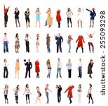 united colleagues isolated over ...   Shutterstock . vector #255093298
