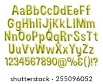3d alphabets on isolated white. | Shutterstock . vector #255096052