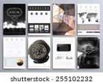 set of design templates for... | Shutterstock .eps vector #255102232