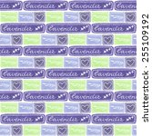 lavender. seamless watercolor... | Shutterstock .eps vector #255109192
