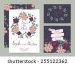 wedding set cards | Shutterstock .eps vector #255122362