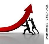 team correcting business... | Shutterstock . vector #255142936