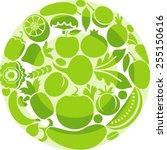 vegetarian plate | Shutterstock .eps vector #255150616