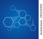 abstraction hexagons | Shutterstock . vector #255153355