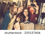 Three Women Taking A Selfie...