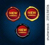 vector new arrival wax seal   Shutterstock .eps vector #255158536