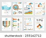 big set of infographics... | Shutterstock .eps vector #255162712