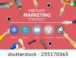 inbound marketing strategy...   Shutterstock . vector #255170365