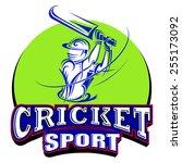vector illustration of cricket... | Shutterstock .eps vector #255173092