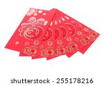 Red Envelope Isolated On White...
