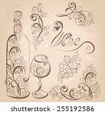 vector wine design elements....