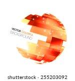 vector abstract technology...   Shutterstock .eps vector #255203092