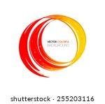 vector abstract technology... | Shutterstock .eps vector #255203116