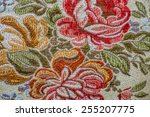retro textile with flower...   Shutterstock . vector #255207775