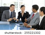 business negotiation | Shutterstock . vector #255221332