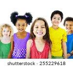 ethnicity diversity gorup of... | Shutterstock . vector #255229618