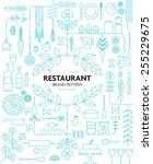 restaurant branding line... | Shutterstock .eps vector #255229675