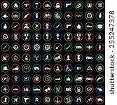 100 war icons  universal set  | Shutterstock . vector #255247378