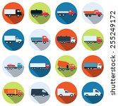 a set of colorful truck and... | Shutterstock .eps vector #255249172