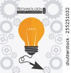 technology design over white... | Shutterstock .eps vector #255251032