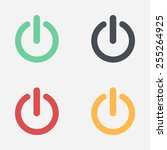 power sign icon. flat design... | Shutterstock .eps vector #255264925